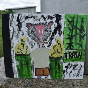 Original Folk Art Trash Opossum